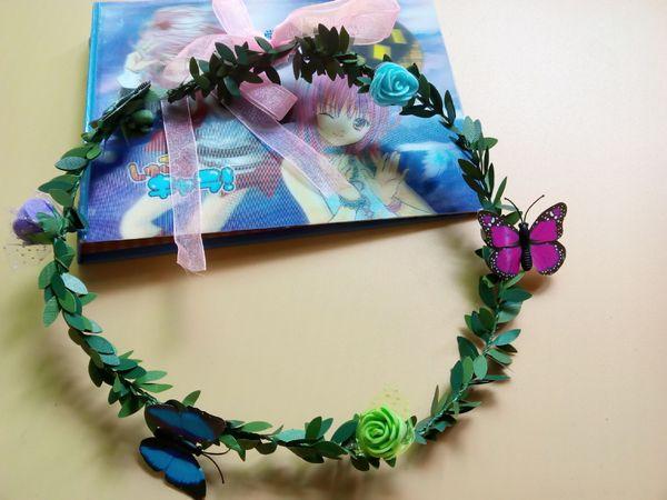 Flores con 6 mariposas