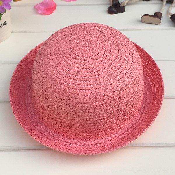 Cabeza C210 pequeñas y redondas Sombrero de cuero blanco