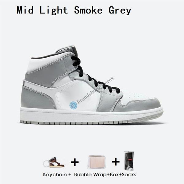 중간 빛 회색 연기