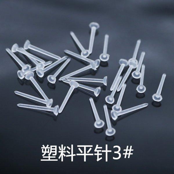 3 # plastico piatto Needle (10.000 per confezione)