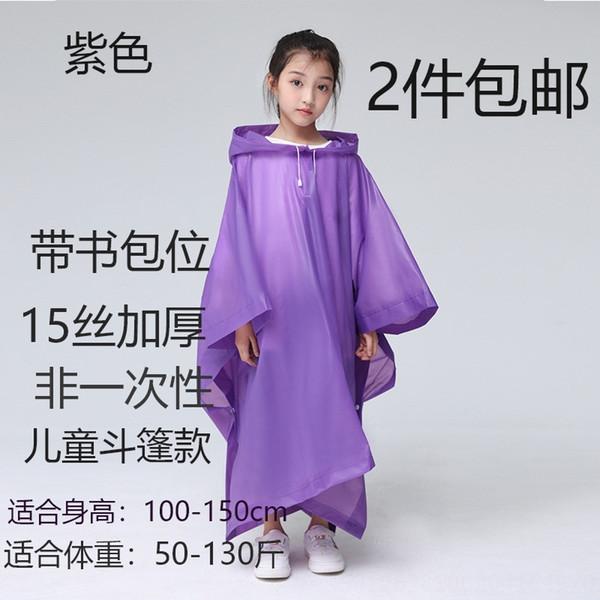 Crianças Purple # 039; s Manto com Schoolbag