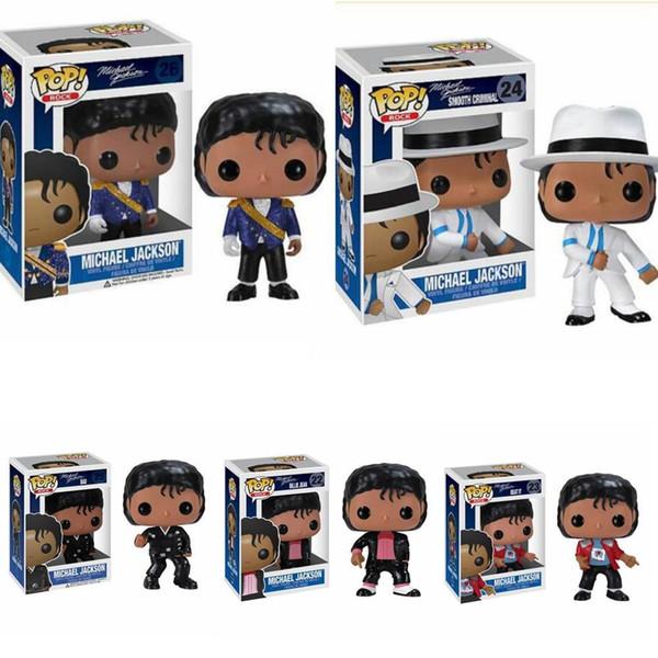top popular Michael Jackson Action Figure Anime Figure Dolls BEAT IT BILLIE JEAN BAD Vinyl Collection Cartoon Model Kids Toys Boy Birthday Gift 2021