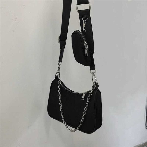 best selling new shoulder bags handbags High quality Crossbody bag Heart-shaped decoration Tarpaulin Nylon bag wholesale Shopping Bag
