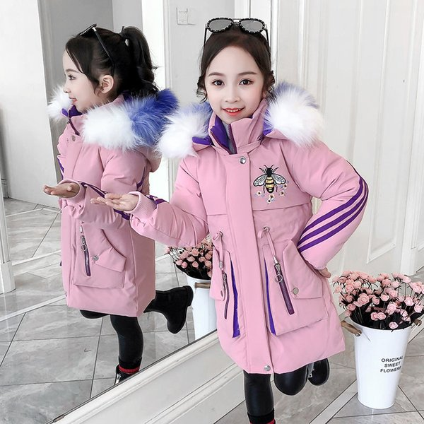 Clearance Kids Winter Cartoon Thick Warm Windproof Cotton Coat Jacket for Girls Boys
