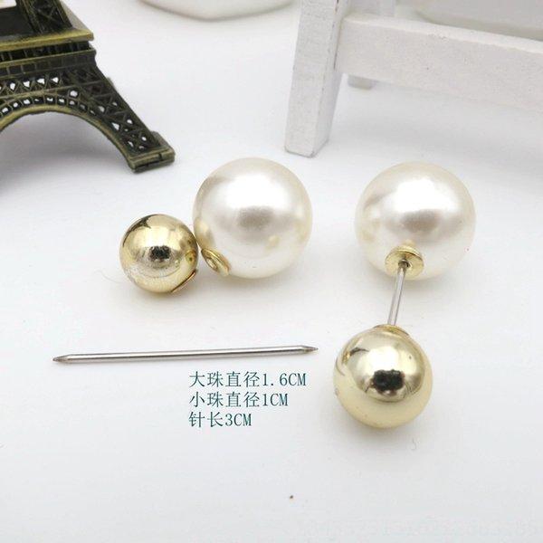 10 # Pallone d'Oro Big Pearl Pin Lunghezza 3 centimetri