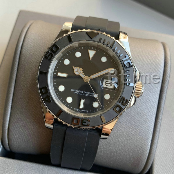 best selling 2020 New Mens Watch 2813 Automatic Movement Stainless Steel fashion Mechanical Watches Men Rubber Strap Designer Wristwatches