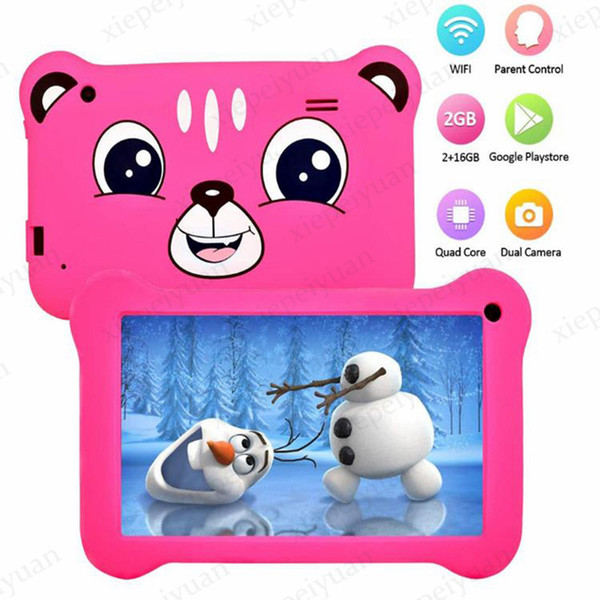 top popular 2020 NEW Quad Core kid Tablet PC 7 Inch Screen Android 9.0 AllWinner A50 real 1GB RAM 16GB ROM Q08 with Bluetooth 2021