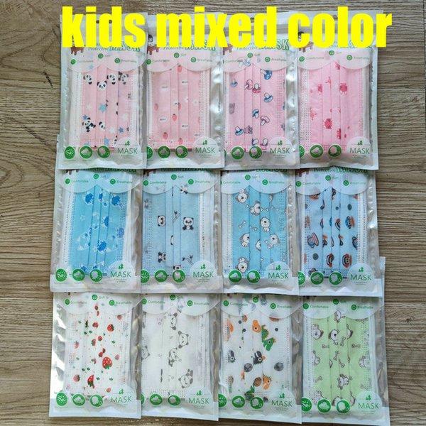 colores mezclados niños