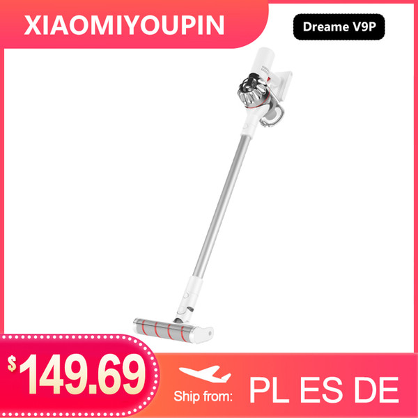 best selling Dreame V9P Handheld Cordless Vacuum Cleaner Protable Wireless Cyclone 120AW Strong Suction Carpet Dust Collector for xiaomi