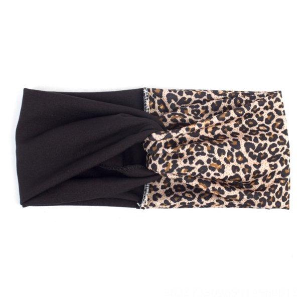 Черный с леопардовым принтом