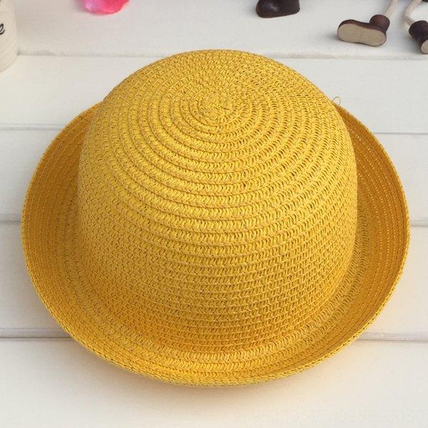 Cabeza C210 pequeñas y redondas sombrero blanco amarillo