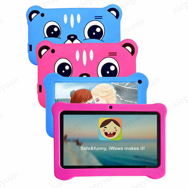 best selling 2020 7 inch Q08 Capacitive Allwinner A50 Quad Core Android 9.0 dual camera kid Tablet PC real 1GB RAM and 16GB ROM WiFi EPAD