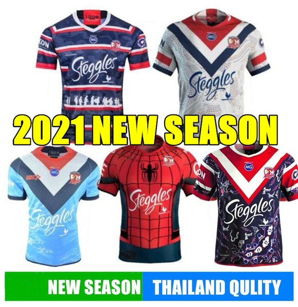 top popular 2020 SYDNEY ROOSTERS ANZAC JERSEY Indigenous rugby Jerseys Rugby League Australia Sydney Roosters Rugby League shirts sport NINES 2020
