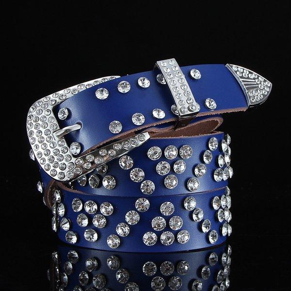 Slash Rhinestone azul oscuro