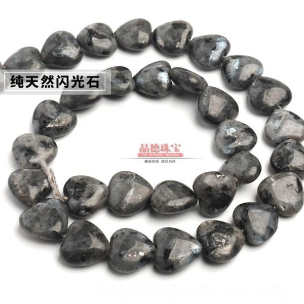 945-персик сердца Природные Сияющий Камень-Di