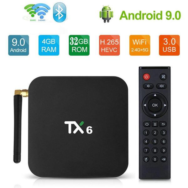 BT ile TX6,4GB + 32GB, 2.4G + 5G WiFi,