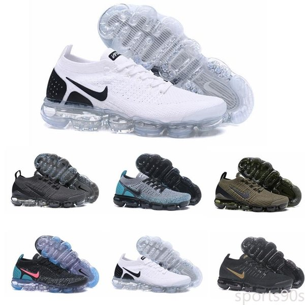 top popular Cheap Knit 2.0 Mens running shoes Triple White Black Heritage cushion trainer men women Outdoor sports sneakers shoes d4 2020