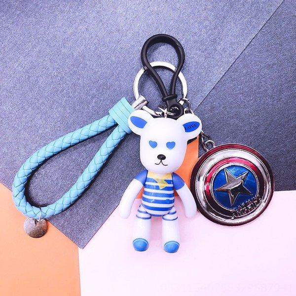 Rayures bleues + ciel bleu cuir corde + S