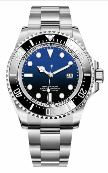 top popular Watch master Deep Ceramic Bezel Cystal Stainless Steel With Glide Lock Clasp Automatic Mechanical mens Watches Wholesale and retail 2021