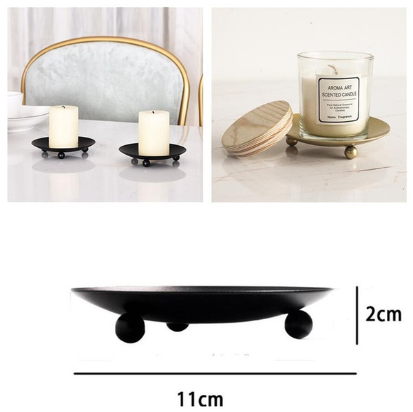 best selling American Style Candle Holders Iron Plate Candle Holder Pedestal Candle Stand For LED & Wax Candles Wedding Party Desktop Ornament