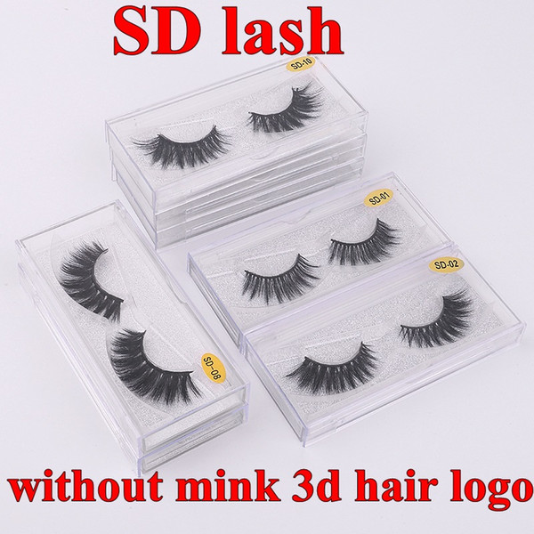 SD Lashes without 3d mink hair logo