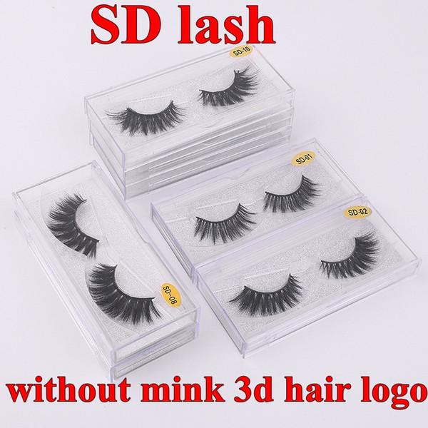 SD جلدة دون المنك 3D شعار الشعر