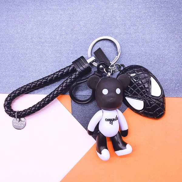 Noir et blanc Ours + cuir noir Rop