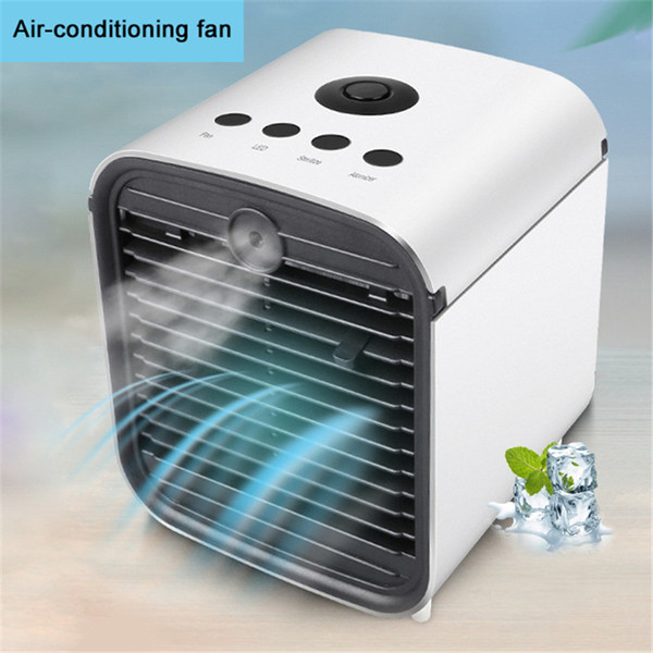 top popular Freeshipping Portable Mini Air Conditioner Fan Desktop Air Conditioning Cooler Home Office Desk Air Conditioning 2020