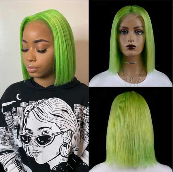 T Parte Lace Wig 12inches Verde China