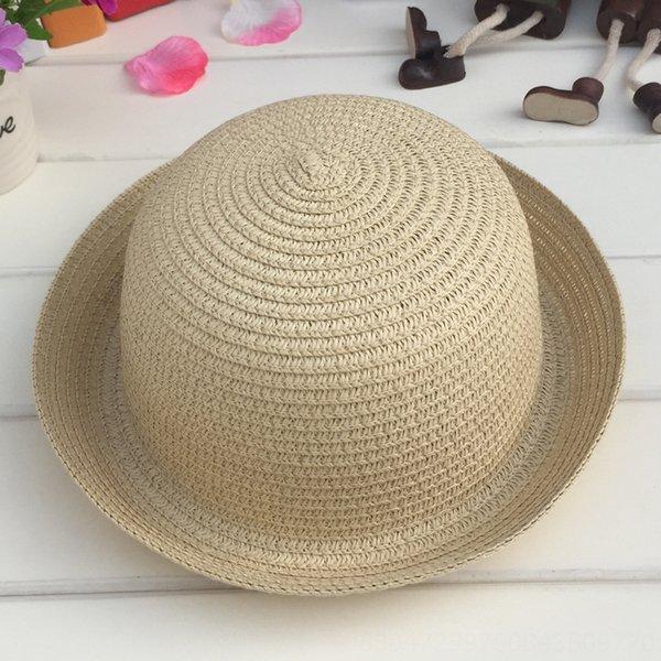 Cabeza C210 pequeñas y redondas sombrero blanco amarillento