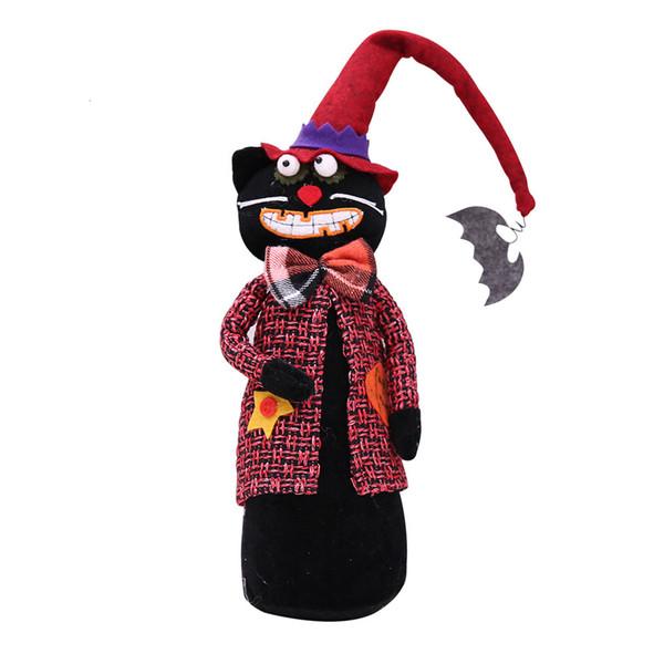 Halloween Hat Doll longue de chat noir style