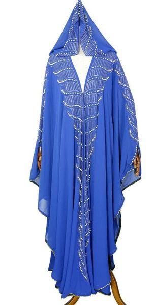 Fuera vestido azul Un tamaño