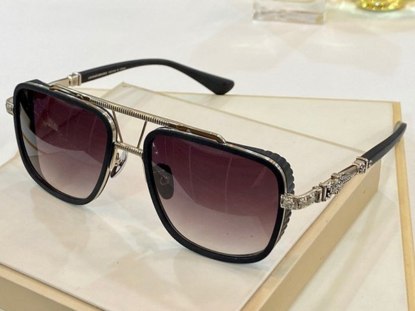 Black and Silver Frame Gradient Grey Len