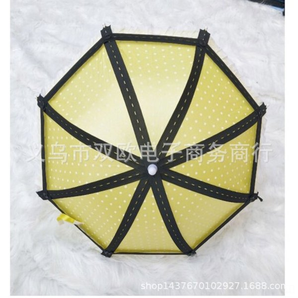 Jaune 8 brins de parapluie