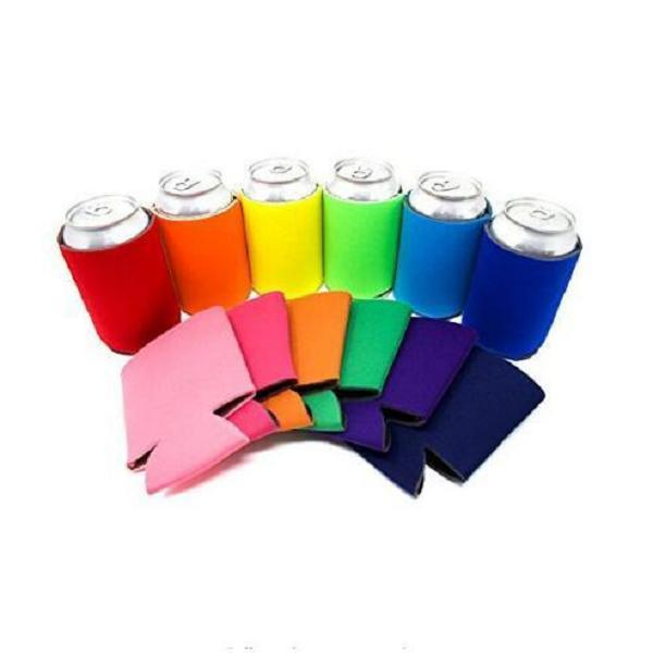 best selling Solid Color Neoprene Foldable Stubby Holders Beer Cooler Bags For Wine Food Cans Cover Kitchen Tools