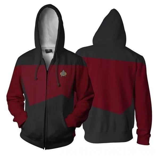 Siyah Star Trek kırmızımsı
