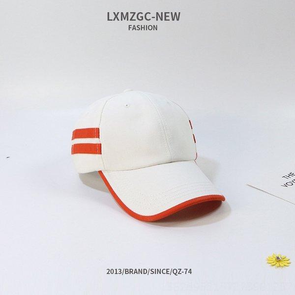 Retro zweitaktige Curved Hat-weiß-M (56-58cm