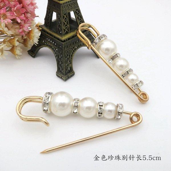 1 # Golden Pearl Pin 5,5 centimetri