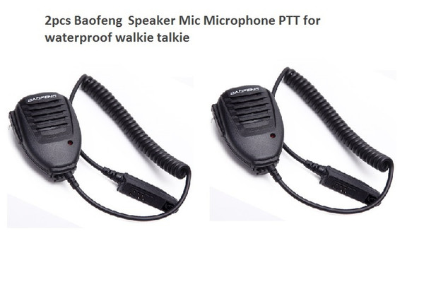 top popular 2pcs Handheld Microphone waterproof Speaker for BAOFENG UV-9R plus Walkie Talkie PPT Microphone Baofeng BF-A58 uv9R plus BF-9700 2021