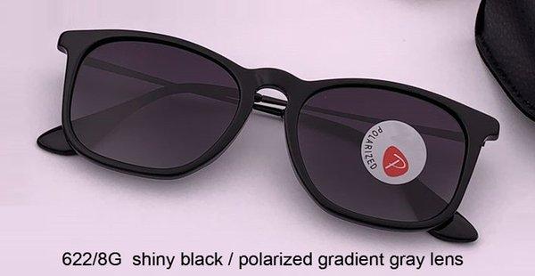 negro brillante / gris degradado polaizado