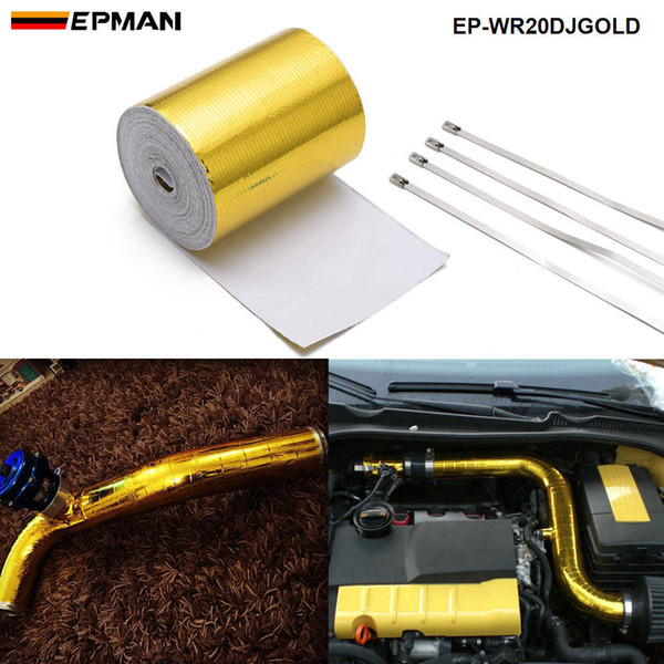 """top popular EPMAN 2""""x5 Meter Roll SELF ADHESIVE REFLECT A GOLD HEAT WRAP BARRIER Hot Selling New EP-WR20DJGOLD 2021"""