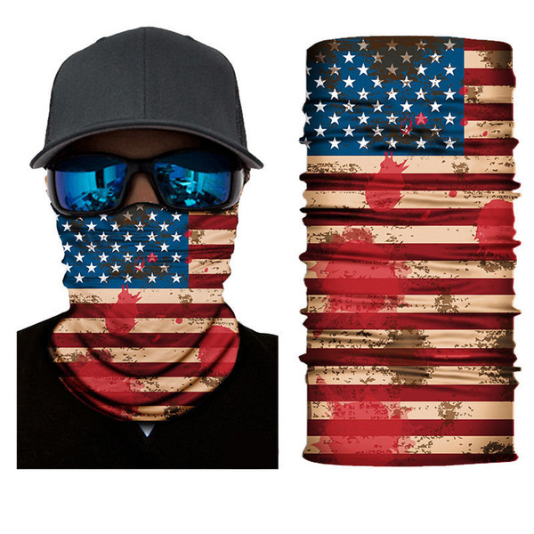 best selling Sport Face Masks Trump US Flag Style Seamless Bandanas Multifunctional Cycling Scarf Skull Magic Turban Women Men Outdoor Headbands