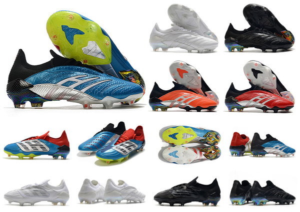 best selling Hot Predator 20 Archive Limited Edition FG ZZ Zidane David Beckham 23 20+x Men Soccer Shoes Cleats Football Boots Size 39-45