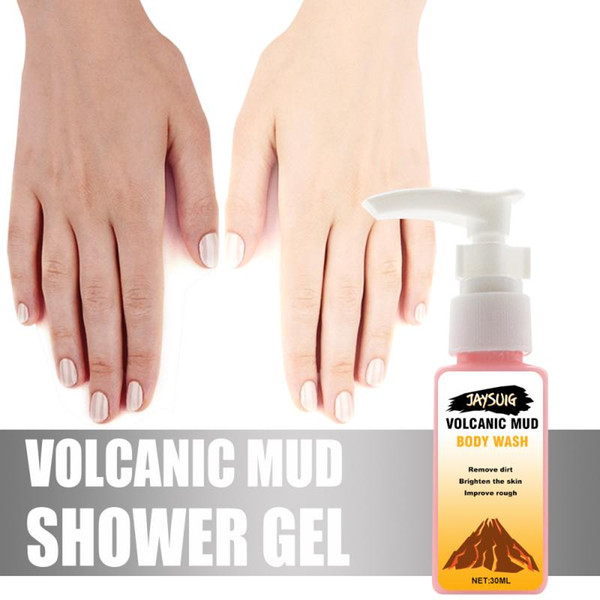 best selling Fast Delivery Volcanic Mud Shower Milk Body Wash Whitening Deep Cleansing Skin Care Moisturizing Exfoliating Gel 30ML TSLM1