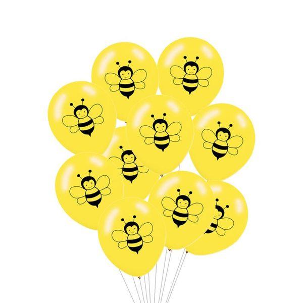 10pcs yellow bee