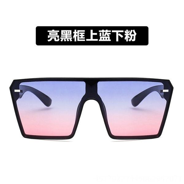 Glossy Black Frame superiore blu e rosa Bot
