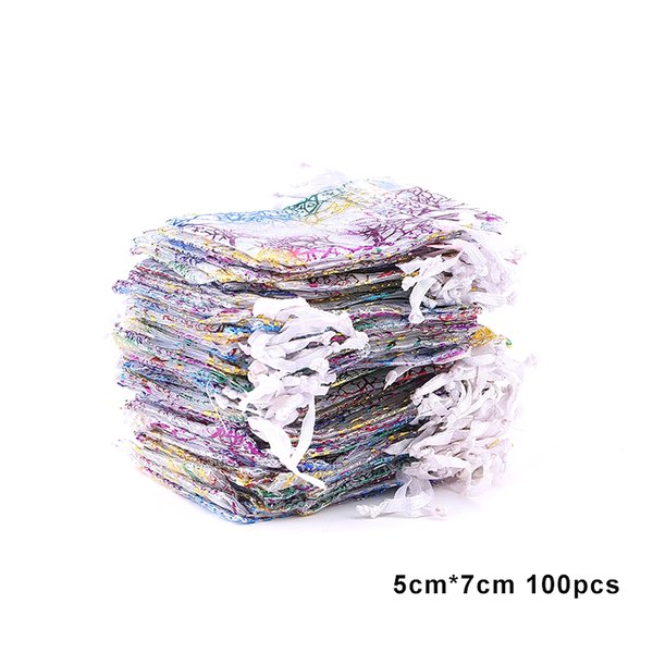 100pcs 5x7-blanco