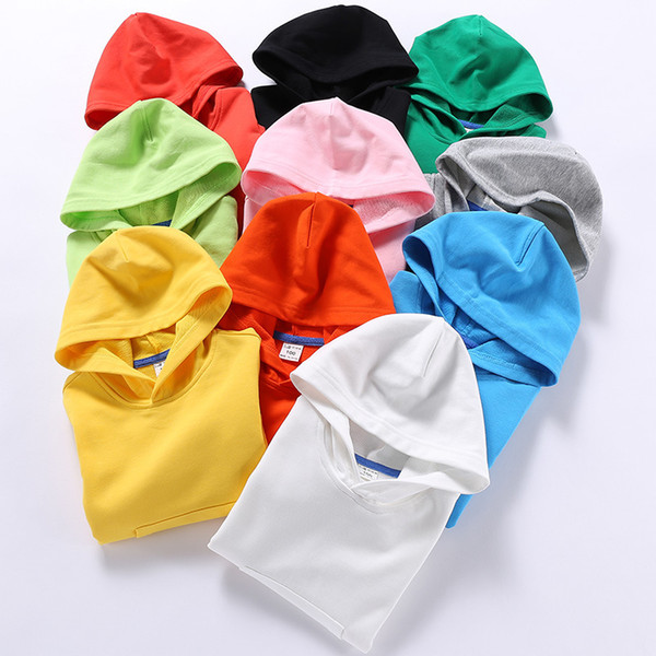 best selling Newest Fashions INS Kids Girls Boys Plain Hoodies Fashion Pullover Stylish Quality Cotton Children Unisex Clothing Outwears Hooded