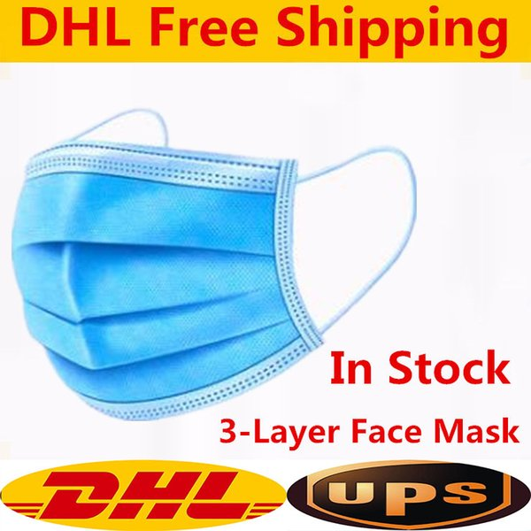 top popular 3 LAYERS OF PROTECTION Disposable Masks 3ply Non-woven Face Mask Protection and Personal Health Mask with Earloop Mouth Face Sanitary Masks 2021