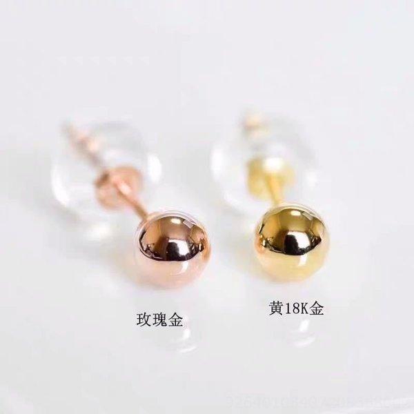 18k Gold Bubble Earrings-k Red